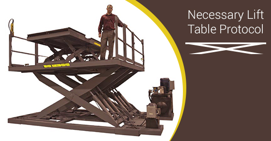 Lift Tables Safety Tips